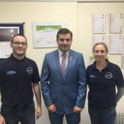 Gavin Newlands MP meets with LEAP Energy Champions
