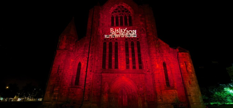 Landmarks across the West of Scotland light up for Paisley 2021