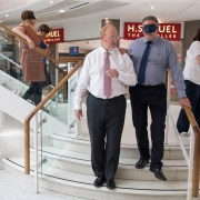 Blindfold mall boss's training was a walk in the dark