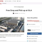 Petition launched online to challenge Glasgow Airports new pick-up and drop-off charges