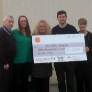 Tartan Rose raise £1,200 for ACCORD Hospice
