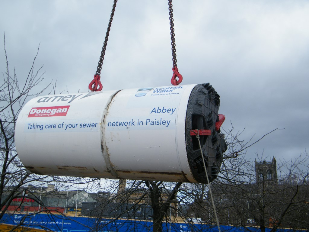 Scottish Water launches tunnel boring machine in massive Paisley environmental project