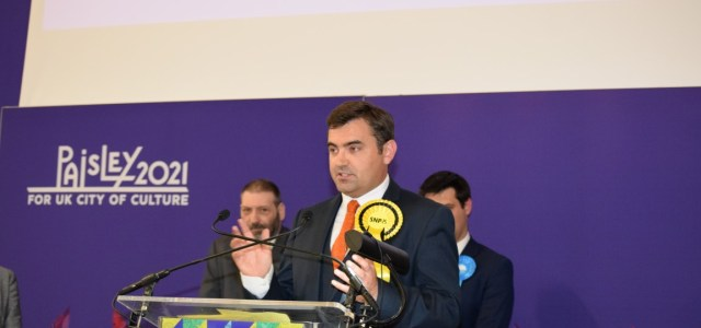 SNP members re-select MP Gavin Newlands for Paisley and Renfrewshire North to stand at next General Election