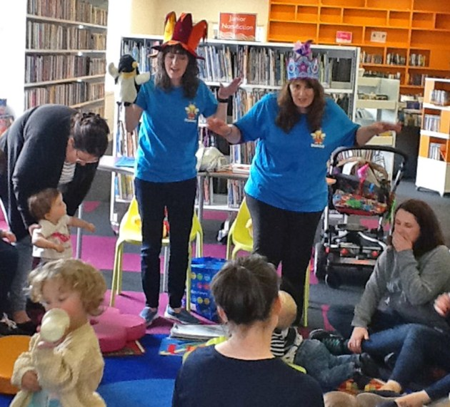 Having a grand old time at Bookbug sessions
