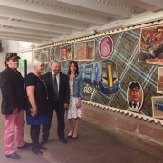 New mural welcomes arrivals at Paisley Gilmour Street