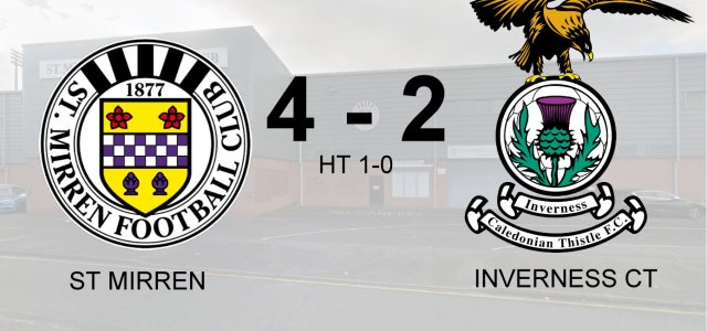 Buddies clinch sixth home win defeating Inverness 4-2