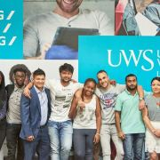 UWS celebrate climbing into the top 100 of The Times and Sunday Times Good University Guide for the first time