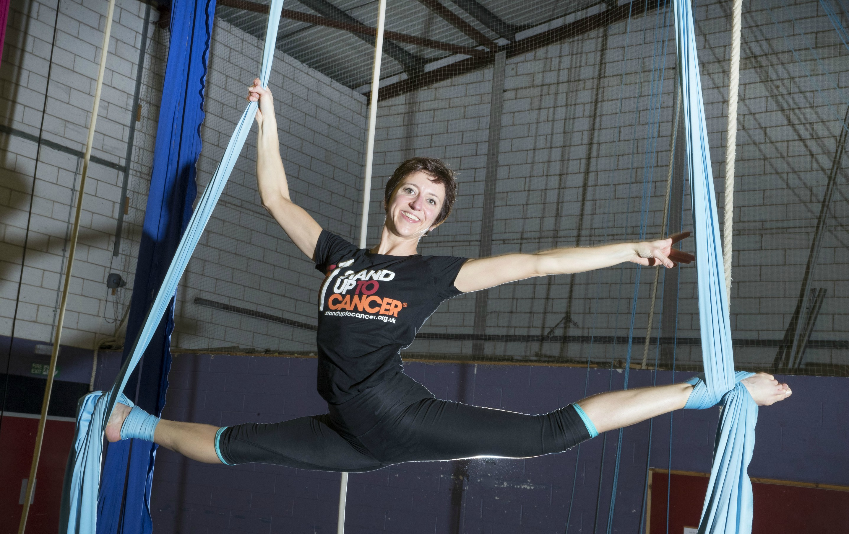 Trapeze scientist stands up to cancer, Dr Sara Zanivan isn't 'hanging around' in fight against the disease