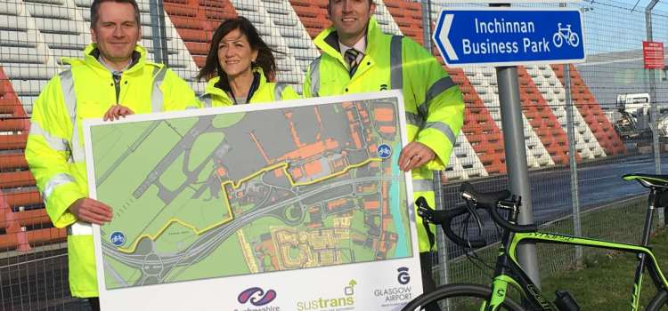 A £210K project to upgrade Glasgow Airport cycle route on track to take off