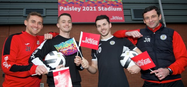 St Mirren continue to fly the flag for the town's UK City of Culture bid at Paisley 2021 Stadium