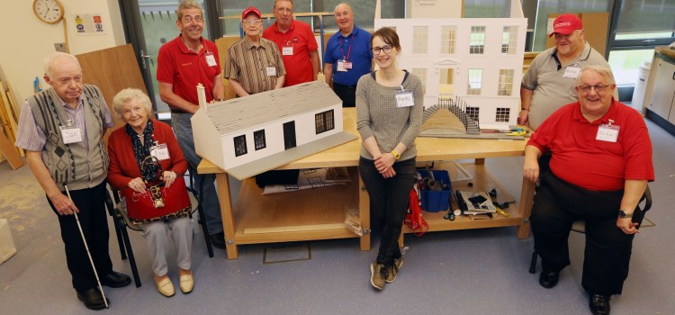 Veterans get crafty modelling popular Paisley buildings
