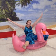 Beach party fun for Love Island finale at shopping mall