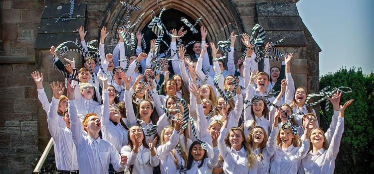 Pupils at St Columba's School celebrate strong exam results