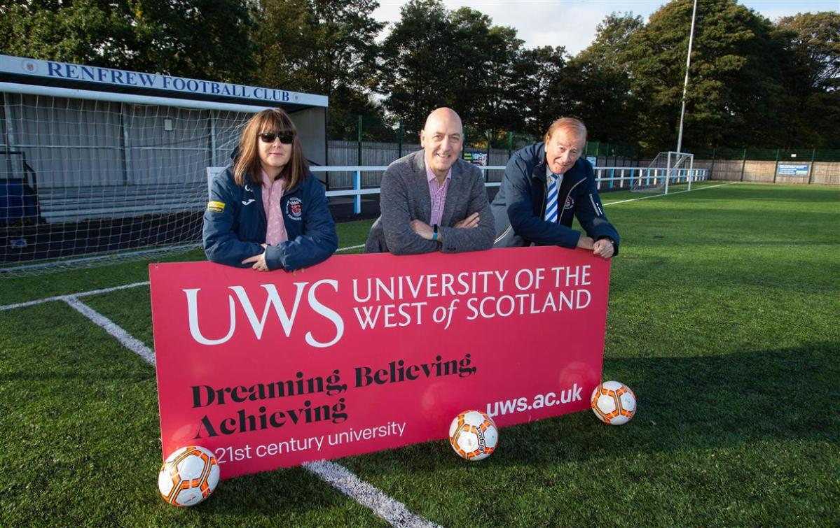 UWS kick-starts support for Renfrew FC