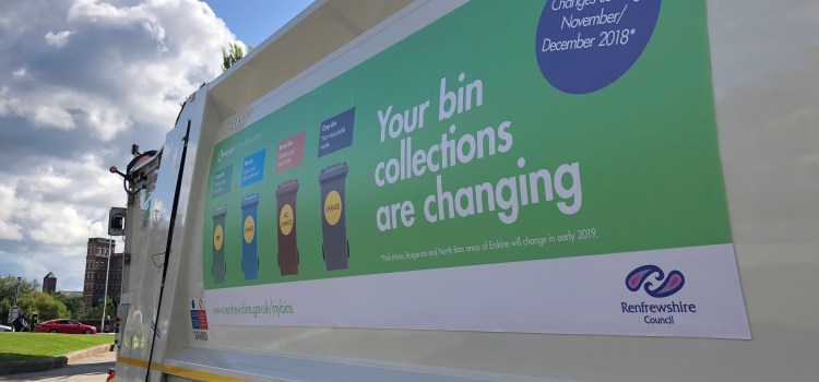 Renfrewshire sends 2000 tonnes less to landfill thanks to new recycling system