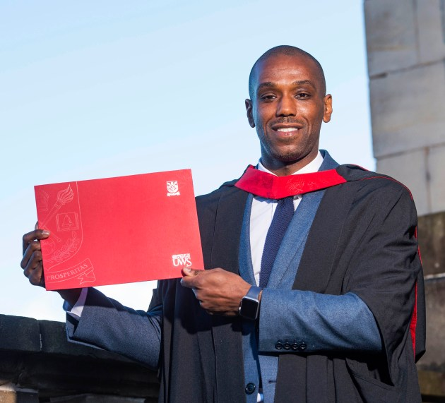 Former St Mirren player graduates from UWS with masters degree in research