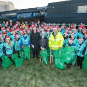 St Fillan's Primary and Houston Primary pupils become Santa's little helpers to brighten up their local community