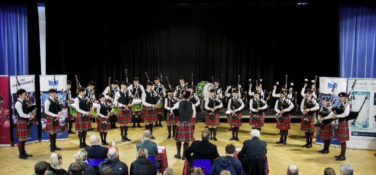 St Columba's wins at Scottish Schools' Pipe Band Championships