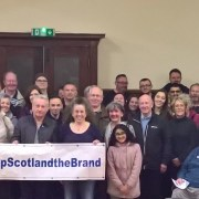 Paisley public support Keep Scotland the Brand campaign