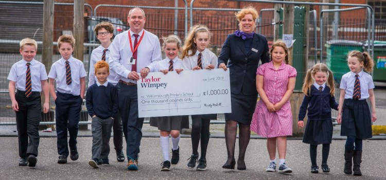 Williamsburgh Primary received a fundraising boost from Taylor Wimpey