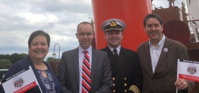 MSP shows support for the Save the Waverley campaign