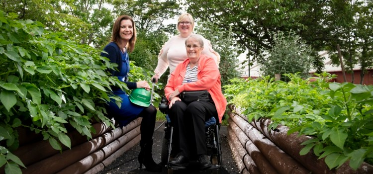 Centre's users gladly led up garden path after Sanctuary makes grounds wheelchair-friendly