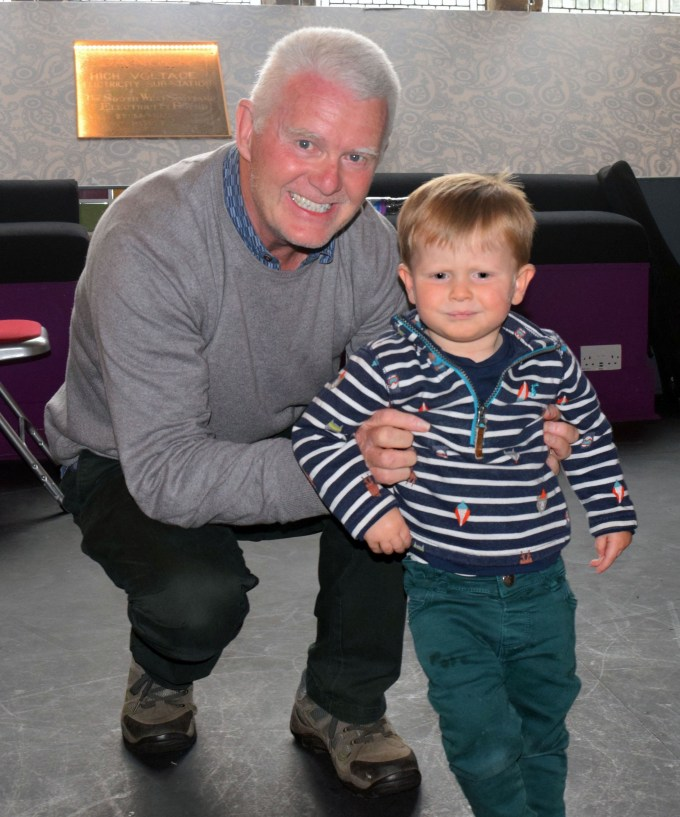 Ray Brown and his two-year-old grandson, Harvey, from Paisley who will be appearing together on stage at Paisley Arts Centre