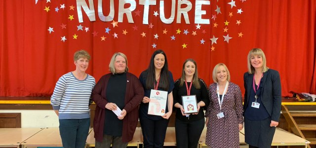 Kirklandneuk Primary School receives 'National Nurturing Schools Award' from national charity