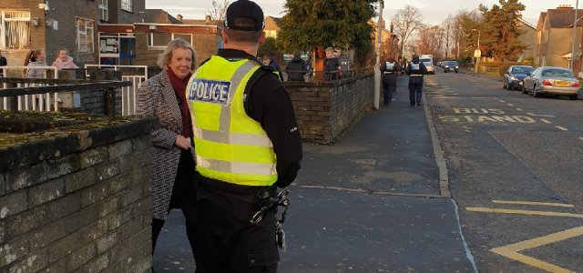 Officers attend Newmains Primary School in crackdown on irresponsible parking
