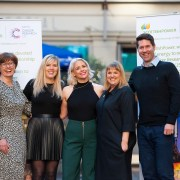 Brave Heather joins scientists to thank Scottish Power for their partnership with Cancer Research UK
