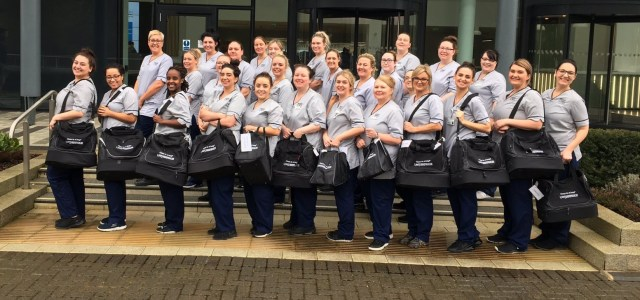 First class – student nurses have health lessons in the bag