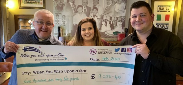Restaurant Chain donates over £9k to children's charity