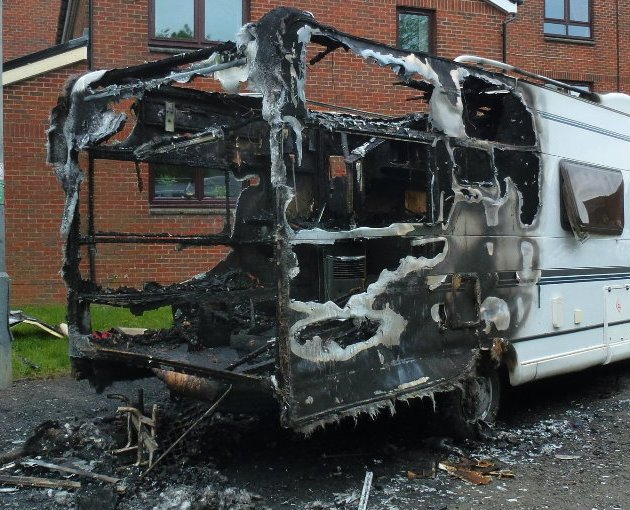 Man arrested after bin and camper van fire in Paisley's West End