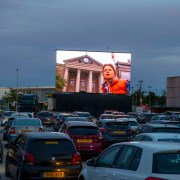 Braehead drive-in movies launch with favourites like Grease, Jurassic Park, Goonies, Lion King, The Lost Boys, Back to the Future and Dirty Dancing.