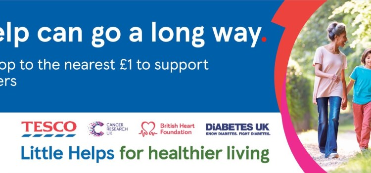 Tesco's fundraising appeal provides £3 million boost  to health charity partners