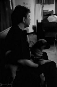 Jürgen Ludwig mit dem Literaturhund