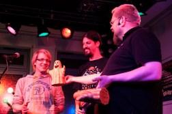 1. Plätze: Christofer_mit_f und Micha-El Goehre, CaféSATZ Poetry Slam, C@fe-42, 21. Dez. 2012