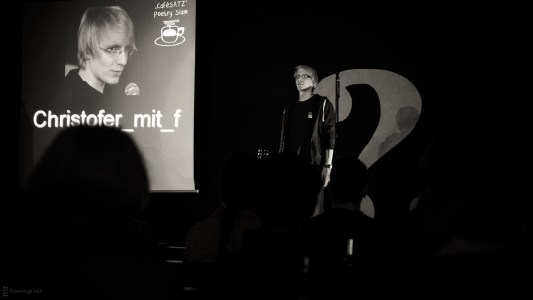 Christofer_mit_f, 25.5.2013, Poetry Slam C@fe-42, Gelsenkirchen