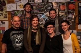 Die Slamer des Abends: Ralph Beyer, Zwergriese, Anke Fuchs, Joli
