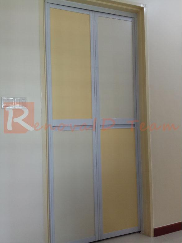 Basic Aluminium Bifold Toilet Doors Installed By Renovaid