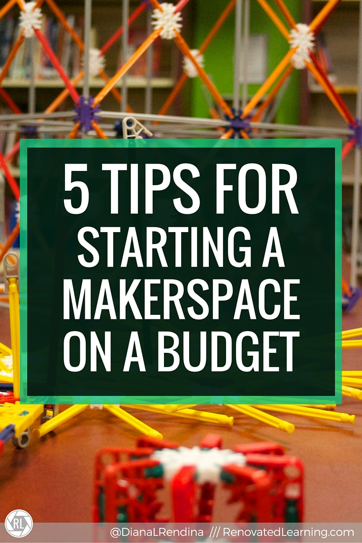 5 Tips for Starting a Makerspace on a Budget   This post links to my article for the ISTE Scanner. In the article, I talk about my five tips for starting a makerspace on a budget, including cultivating a vision,