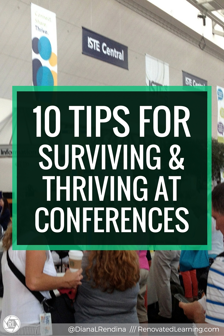 10 Tips for Surviving & Thriving at Conferences | Whether you're a seasoned conference-goer or a conference newbie, this post is for you. I've been to lots of conferences and I've learned how to make them better through trial and error. Here's my 10 tips for surviving and thriving at your next conference.