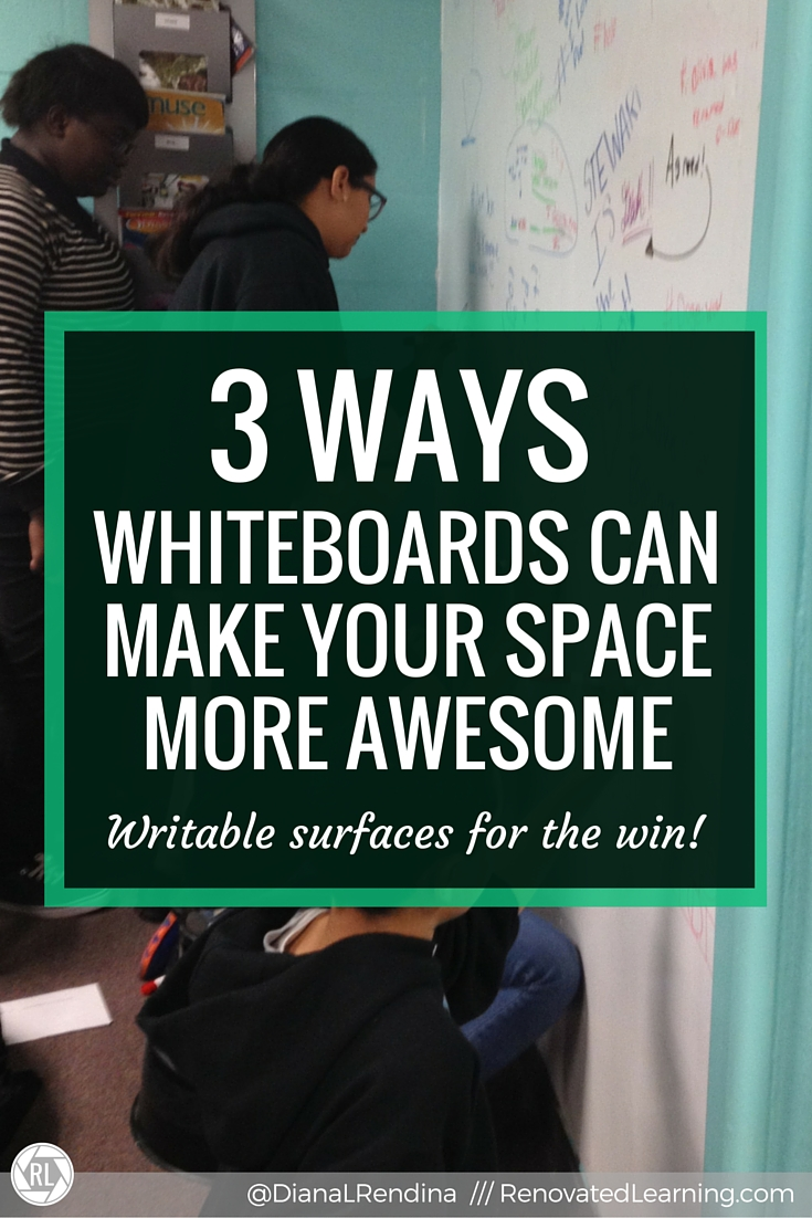 3 Ways Whiteboards Can Make Your Space More Awesome   Whiteboards and writable surfaces are far more than just instructional spaces. By creating unconventional whiteboard surfaces with whiteboard paint and whiteboard topped tables, we can transform how our students interact with our spaces. Here's 3 ways whiteboard surfaces can be used to make your space more awesome.