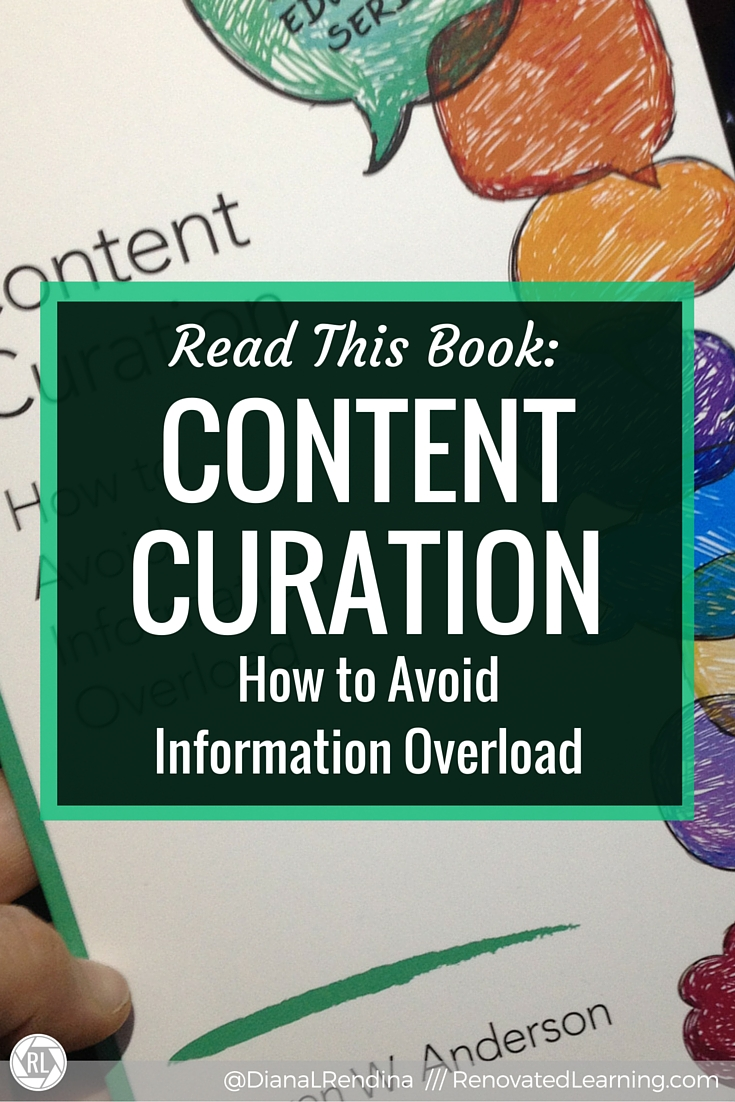 Read this book: Content Curation: How to Avoid Information Overload | In my review of Content Curation, I share what I learned from Steven Anderson about tools that can help you make sense of the information overload that is the internet.