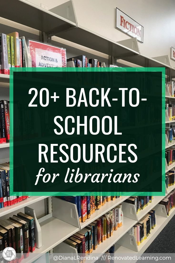20+ Back-to-school resources for librarians // Here's a curated list of posts and other resources to help you get ready for a new school year.