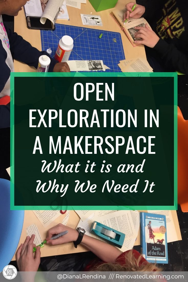 Open Exploration in a Makerspace: What it is and Why We Need It // Students benefit when they have the opportunity for both structured and unstructured time in makerspace. Here's a look at what open exploration is and why it's important.