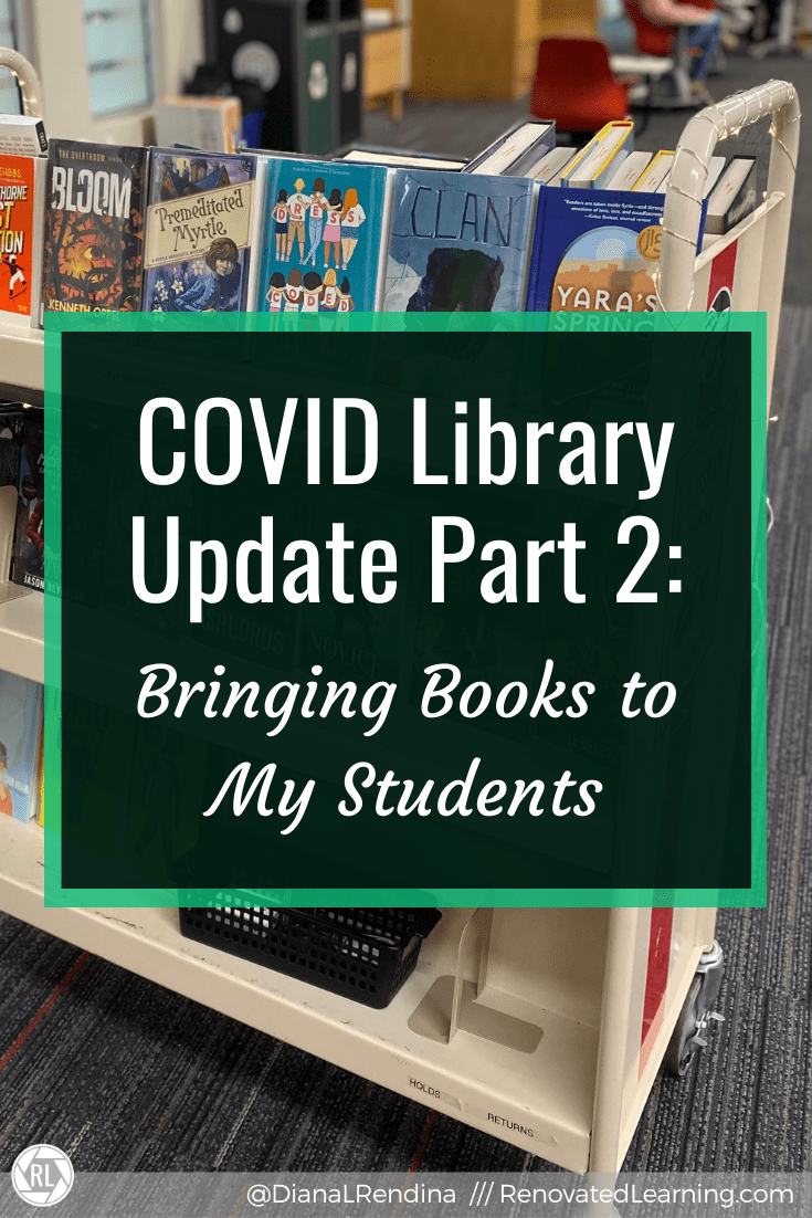 COVID Library Update Part 2: Bringing Books to My Students // Since access to our library space is limited this year, I've found creative ways to continue to get books into the hands (and devices) of students.