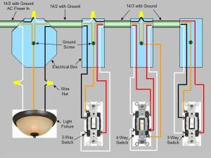 4Way Switch Installation  Circuit Style 1