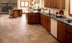 How To Choose Kitchen Flooring Kitchen floor with porcelain tile