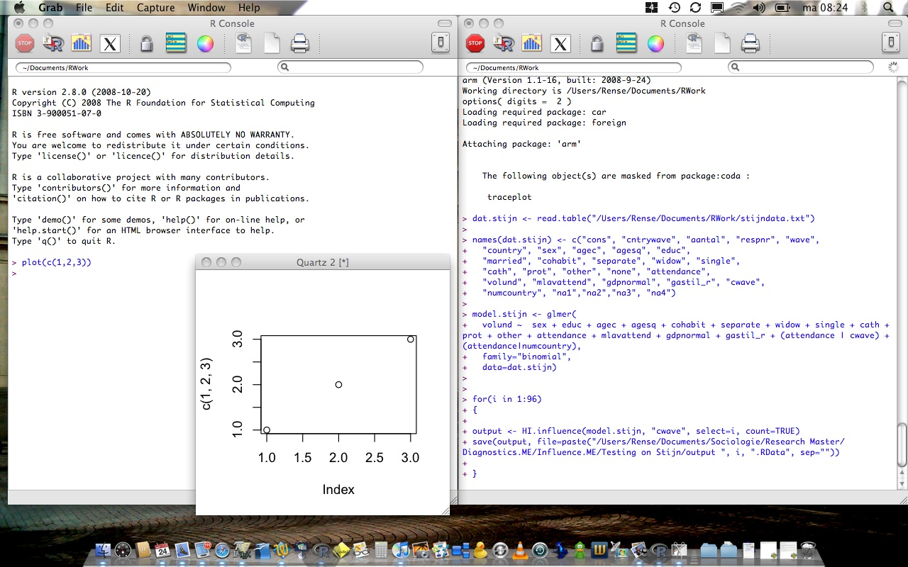 R-Sessions 29: Running R-Project twice on Apple Mac OS X | Rense